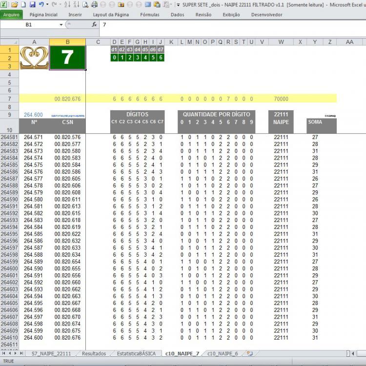 S7 013 dois NAIPE 22111 _Filtrando 7 Dígitos resulta 264.600 Combinações.JPG